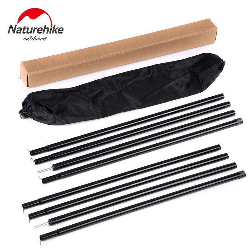 Naturehike 2PCS Outdoor Tent Poles Camping Tent Accessories Canopy Tent Sun Shelter Support Poles Awning Rod NH15A001-K
