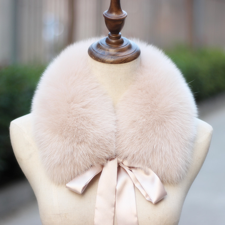 Real Fox Collar Scarf 100% Natural Fox Shawl For Women Scarves Genuine Fur Collar Warm Real Fox Hood Big Fur Neck Collar Female