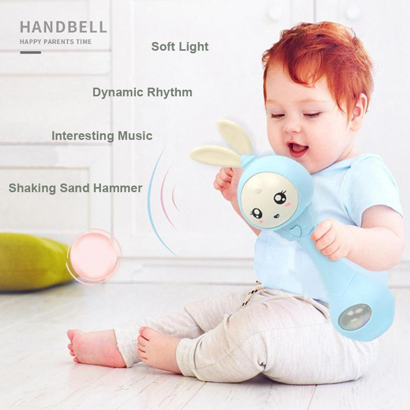 Baby & Toddler Toys Baby Rattles & Mobiles Lovely Baby Shaker Sand Hammer Toy Rattles Rhythm Stick Baby Rattles Kids Party Musical Instrument Toys With Lighting Hand Bell Gift Available In Various Designs And Specifications For Your Selection