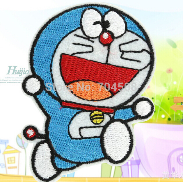 FD816 Embroidered Cloth Iron On Patch Sew Motif Applique Cute Doraemon Cat ~1PC~ HOT!!!