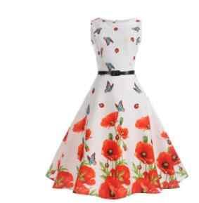 Платья-рубашки до колена с принтом пчелы, женское Повседневное платье 2019, женская одежда