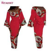2017 Autumn African Dresses for Women Bazin Long Sleeve Patchwork Vestidos Dashiki Kanga Ankara Clothes WY1577