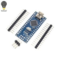 1PCS Promotion Funduino Nano 3 0 Atmega328 Controller Compatible Board For Arduino Module PCB Development Board
