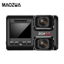 цена HD 1080P Car DVR Dash Cam with Rear Camera GPS logger G-Sensor Video Registrator Recorder Night Vision DVR в интернет-магазинах