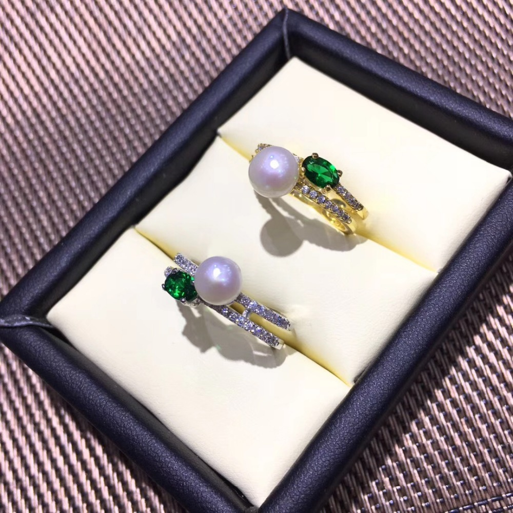 New Design Shiny Silver Plated Adjustable Ring Set Blank,Suits Various Sizes Pearls/Agates/Gemstones DIY Jewelry Findings Gift