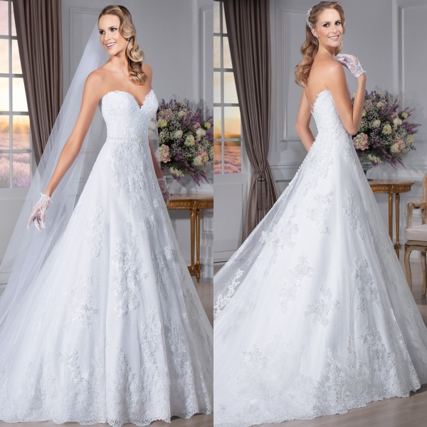 Beautiful New Arrival 2015 Lace Appliques Sweetheart