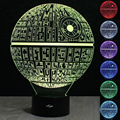 3D Illusion Night Light 7 Color Changing USB Star Wars Death Star LED Desk Table Lights Lamps For Homes Christmas Decoration