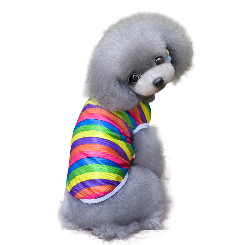 S~XXL Dog Clothes Pet Puppy Vest Jersey Sweatshirt Spring Soft Cotton Pug Chihuahua Teddy Clothes Colorful Ropa de Perro ST87
