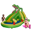 YARD Бесплатная Доставка Горячей Продажи Площадь Надувной Крокодил Вышибала надувные Водные Горки с Бассейном Счастливые Воды Игра Для Детей играть