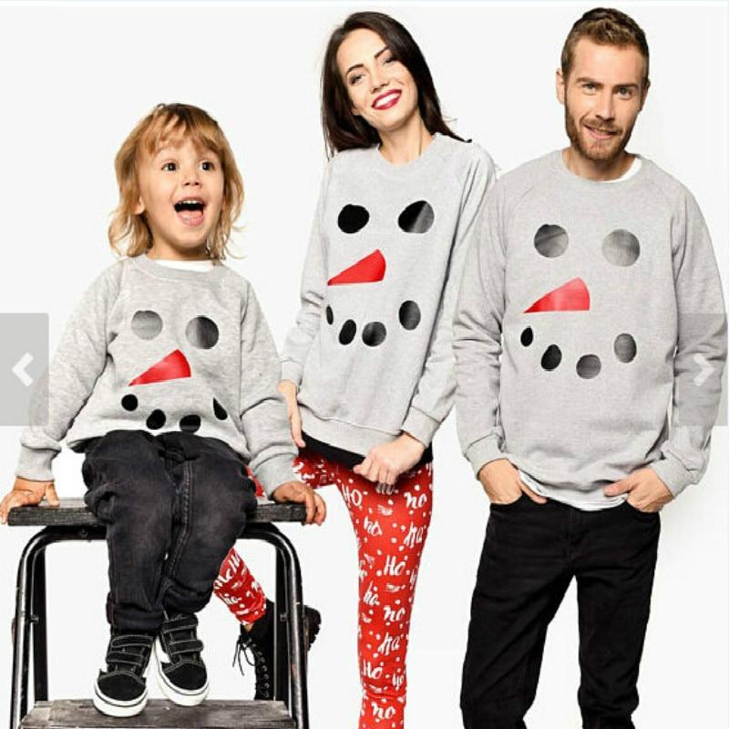Father Mother Kids Matching Tshirt Family Cartoon Snowman Pr