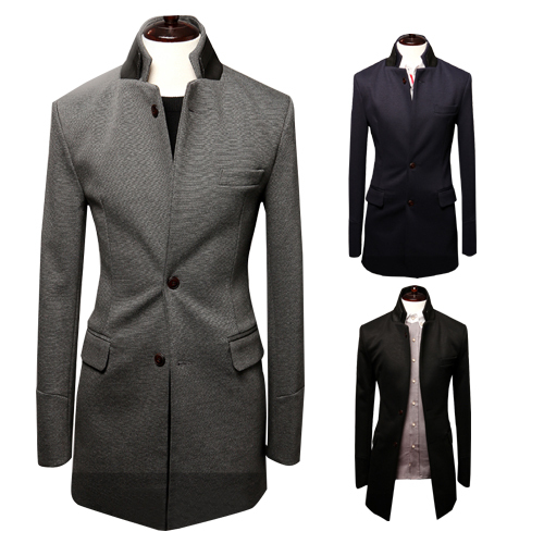 Free Shipping Autumn Winter Men Long Sleeve Suits Blazers Double ...