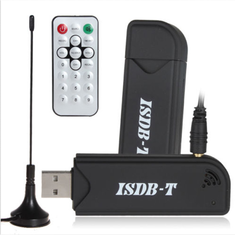 2018 HOT ISDB-T Digital TV Stick Video Recorder USB Tuner Receiver & Remote Control for TV for laptop isudar digital tv receiver for car tv tuner isdb t 2 way video out put for japan brazil south america free shipping