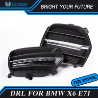 Car Front Fog Lamp for BMW X6 2008 2013 LED Daytime Running Light Driving lamp for BMW E71 with Wireless Switch