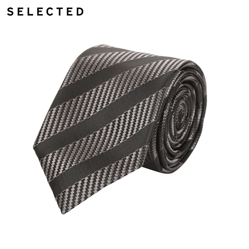 SELECTED Men's Woven Polyester Pattern Business-casual Tie A|41731T501