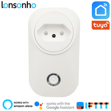 Lonsonho Smart Plug Wifi Socket BR Brasil 16A Power Monitor Tuya Life APP Works With Alexa Google Home IFTTT