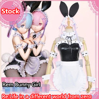 Anime Re Life In A Different World From Zero Rem Ram Bunny Girl Cosplay Costume Full