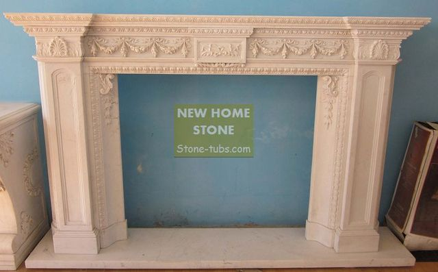 how to build fireplace mantel white marble carvings classic style french design fireplace surround wonderful detail - How To Build A Fireplace Surround