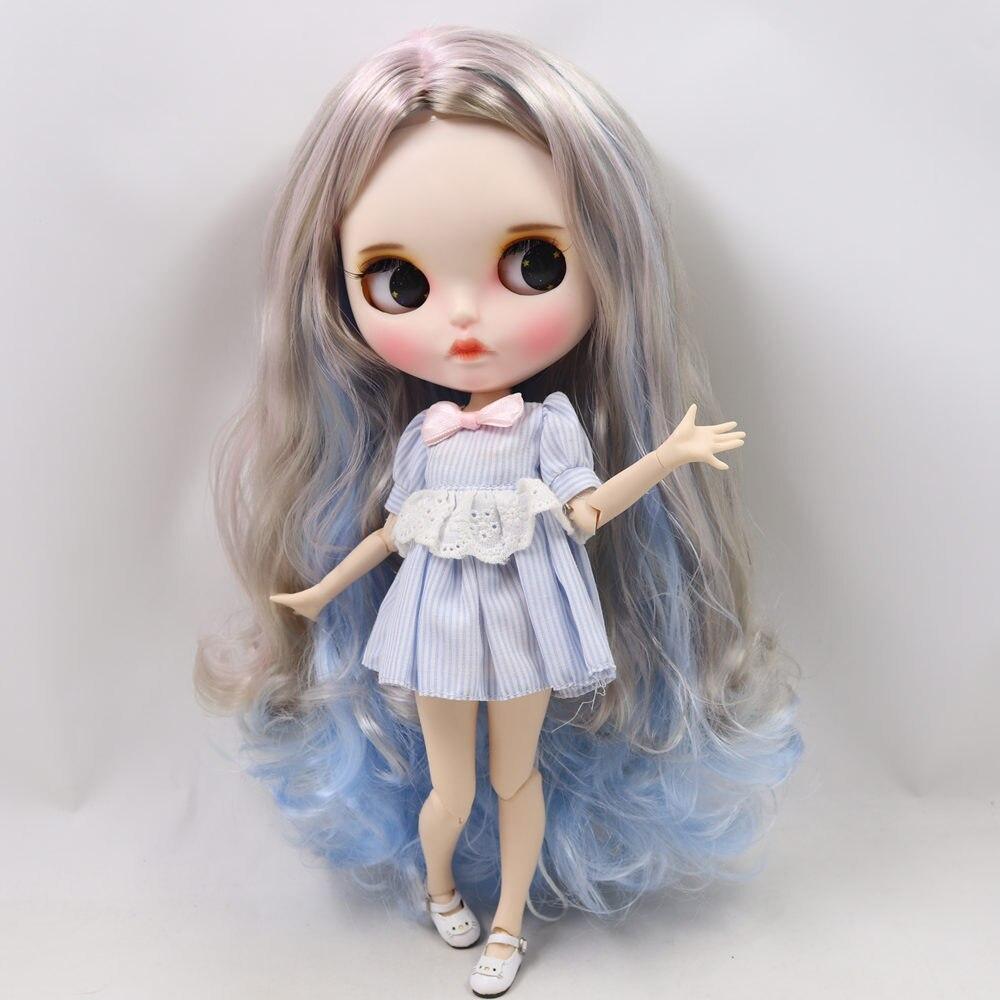 ICY Nude Blyth Doll serii, ale nie gwarantujemy poprawności wszystkich danych. BL1017/8800/6005 lodu krem do włosów kolor rzeźbione usta matowy twarzy dostosowane twarzy wspólne ciało 1/6 bjd w Lalki od Zabawki i hobby na  Grupa 2
