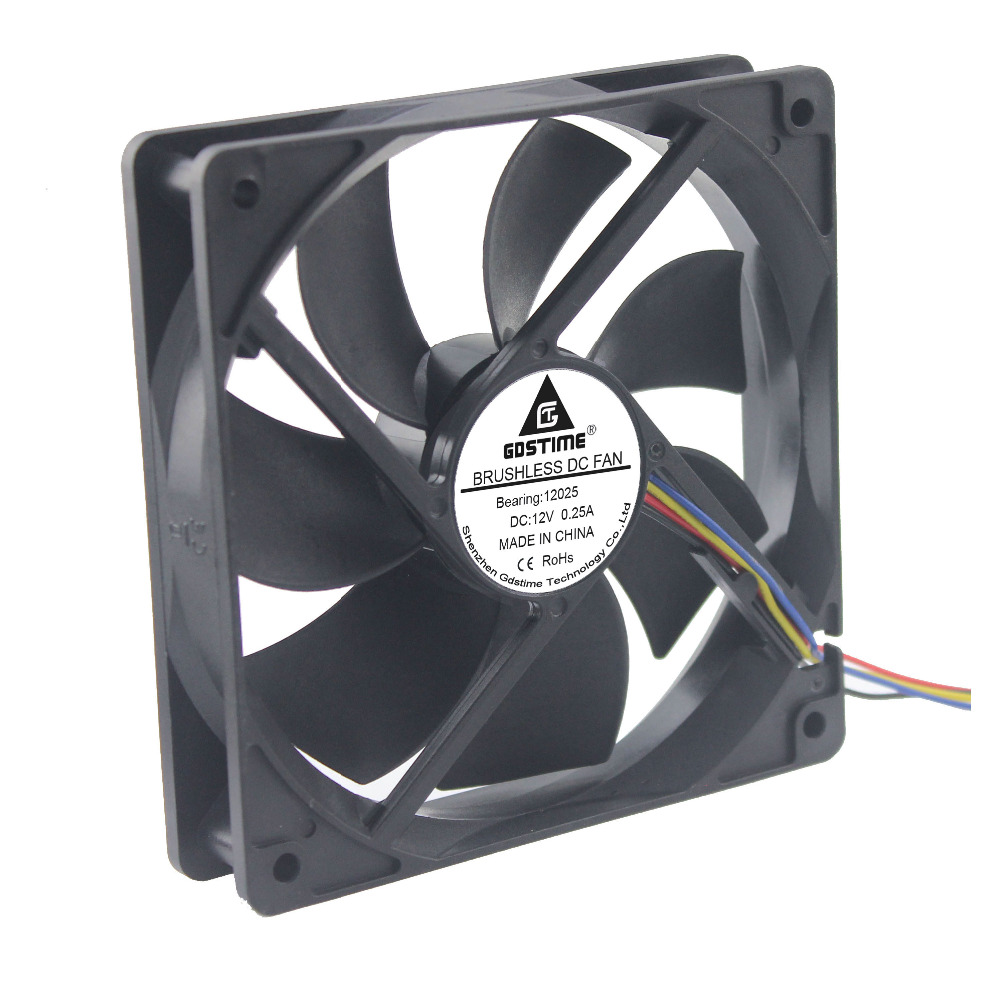1 pcs 3-Wire Connector Computer Cooling Fan for PC Case Cooler 120mm 12025