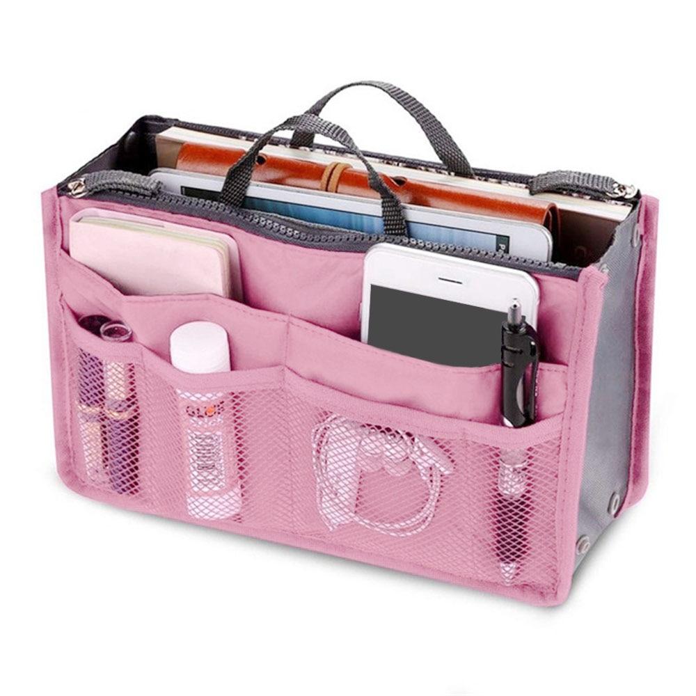 Trucco Kit Da Toilette di Viaggio Tote sacchetto Cosmetico Della Borsa Delle Donne Del Sacchetto di Caso di Vanità Femminile Necessaire Borsa Inserto Dell'organizzatore del Sacchetto