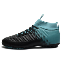 Купить с кэшбэком Men's football shoes sneakers indoor  original football boots ankle high soccer boots