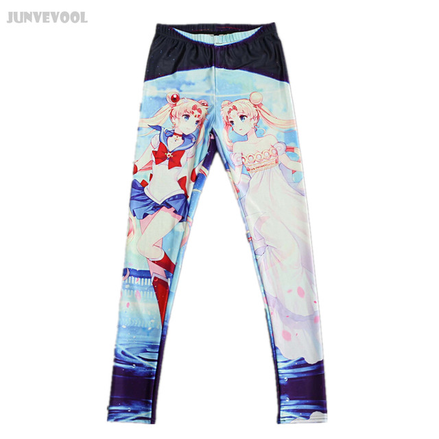 Clothing Fitness Leggings Women Slim Pants Funky Sexy Women 3D Comic Skinny Legging Stretchy Jeggings Pencil Slim Anime Pants