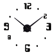 2015 new arrival Quartz clocks fashion watches 3d real big wall clock rushed mirror sticker diy living room decor free shipping