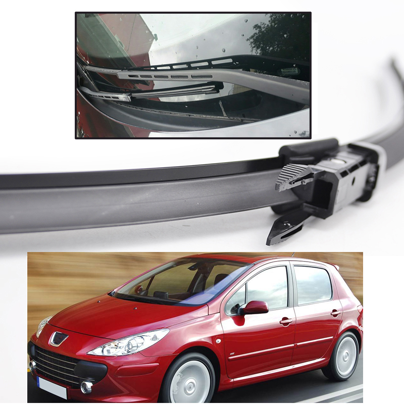 "Image 4 - Ericks Wiper Front Wiper Blades For Peugeot 307 Hatchback 307CC 307SW Estate Windshield Windscreen Front Window 28""+26""-in Windscreen Wipers from Automobiles & Motorcycles"