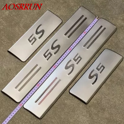 Stainless Steel Side Door Scuff Plate Sill For Renault Duster Dacia 2012-2016