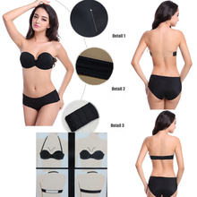 Multiway Halter Underwear Push Up Bra Invisible Transparnt Strapless