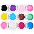 12 PCs Manicure Nail Art UV Gel Polish Kit Pure Nail Gel UV gel Set Gel Polishes Vanish for Manicure Pedicure Tips Builder Tool