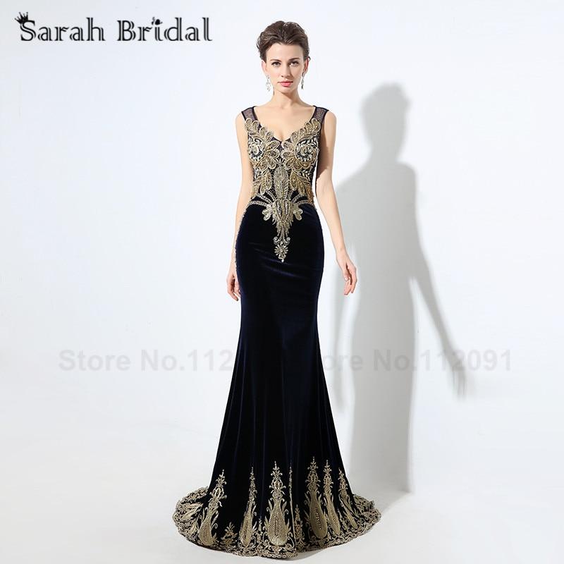 Aliexpress com   Buy Elegant Golden Lace Mermaid Evening 7d790933623a