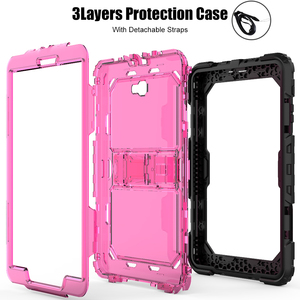 Image 5 - Case For Samsung Galaxy Tab A A6 10.1 2016 T580 T585 SM T585 SM T510 Heavy Duty Shockproof Kids Stand Case Cover Shoulder Strap