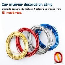 5 M Car Styling Interni Esterno Strisce di Decorazione Moulding Trim  Per Universale Accessori for Instrument console door edge
