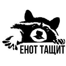 CS-850#20*14cm raccoon funny car sticker vinyl decal silver/black for auto stickers styling decoration