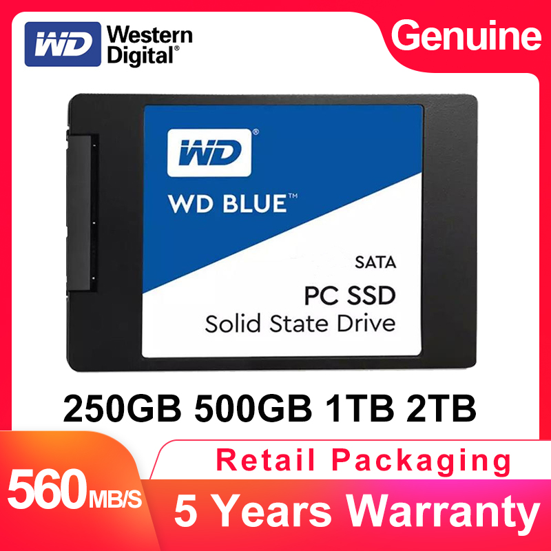 "WESTERN DIGITAL WD BLUE 3D NAND SSD 250GB 500GB 1TB 2TB Internal SATA3 2.5"" Solid State Drive Hard Disk For Laptop NoteBook PC(China)"
