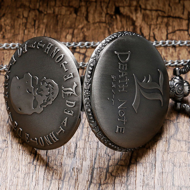 Retro Death Note Theme Pocket Watch with Necklace
