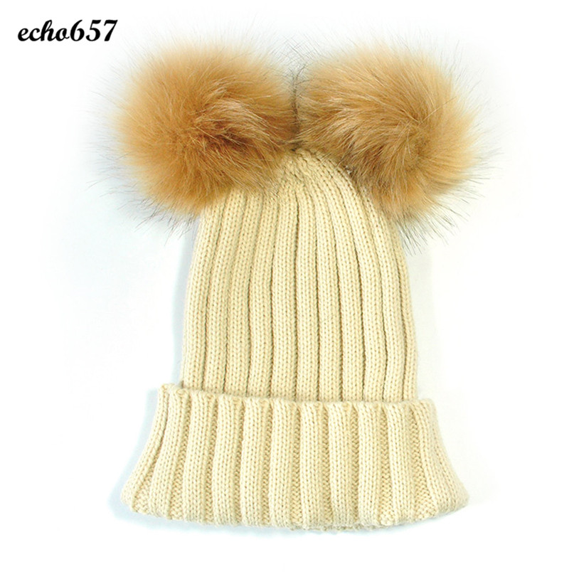 Hot Sale Women Skullies Caps Echo657 New Fashion Women Keep Warm Winter Hats Knitted Wool Hemming Hat Dec 22 skullies