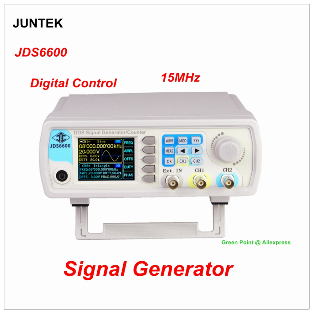 JDS6600 Digital Control Dual channel DDS Function Signal Generator 15MHZ Arbitrary waveform signal generator frequency meter