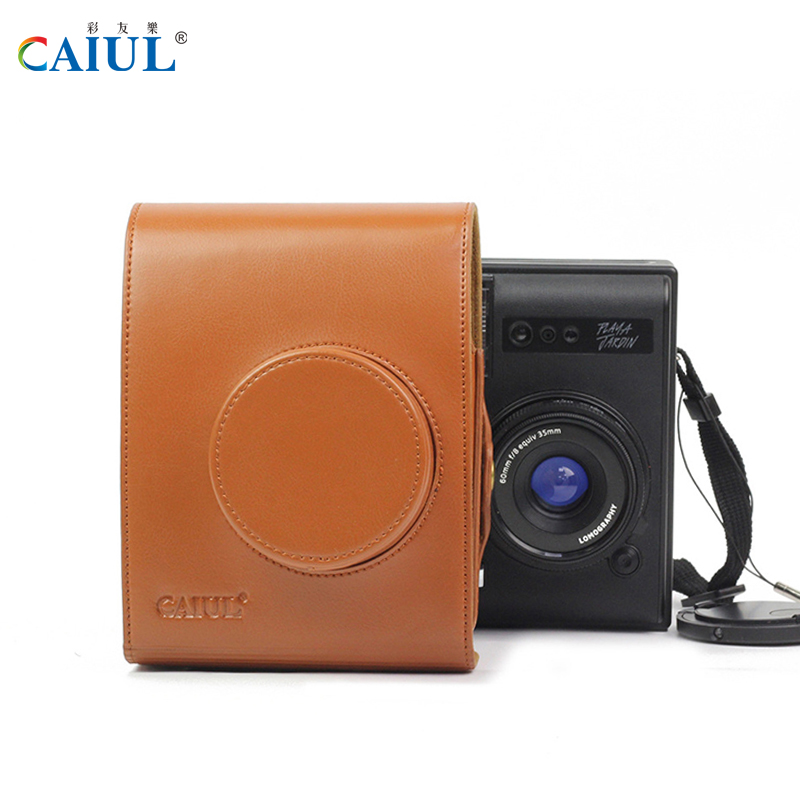 CAIUL LOMO Instant Automat Camera Bag PU Leather Material Shoulder Bag With straps For Fujifilm LOMO