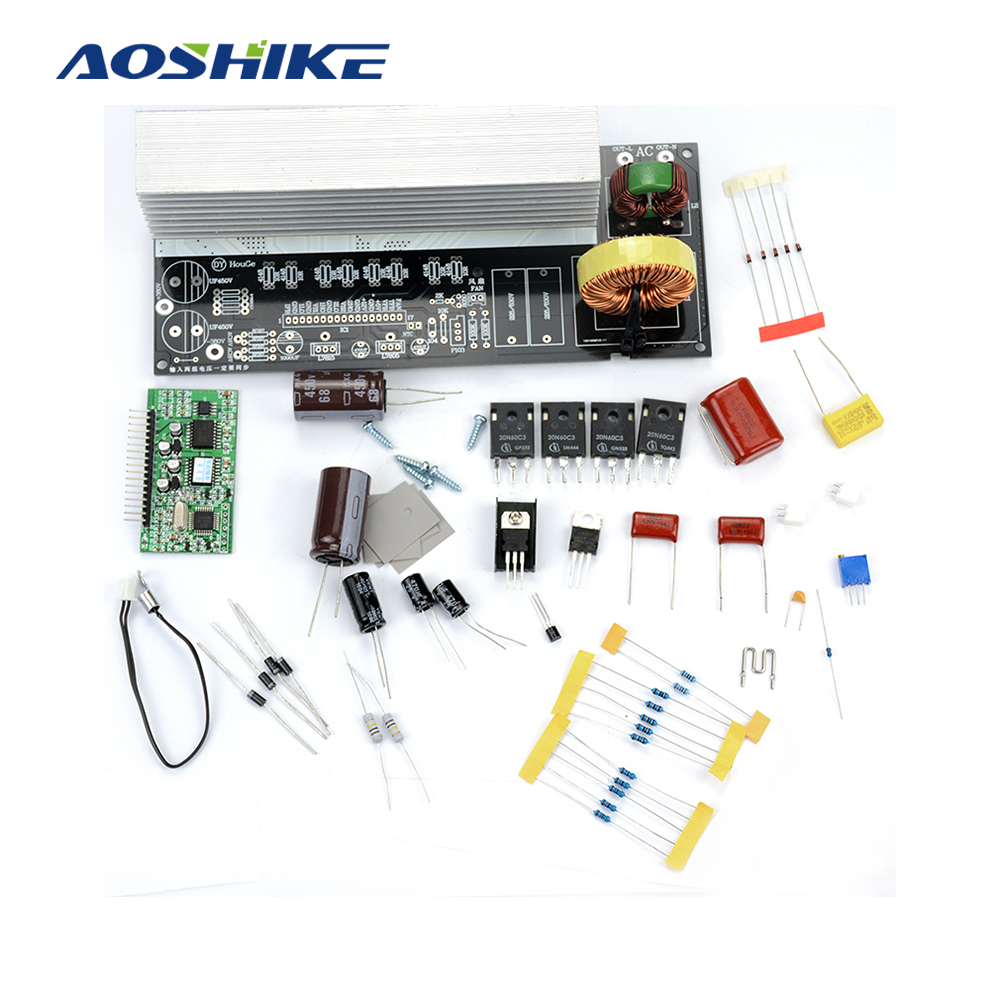 1Set 2000W Pure Sine Wave Inverter Power Board Post Sine Wave Amplifier Board DIY Kit With Heat Sinks