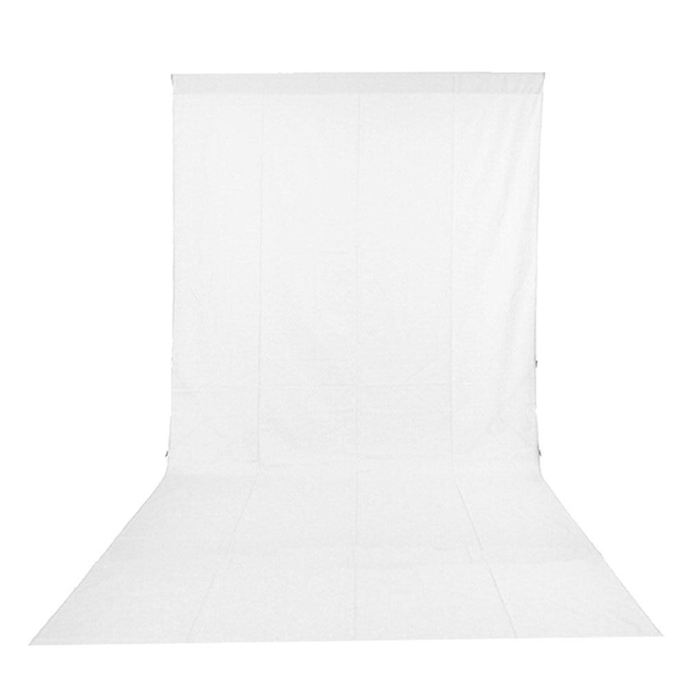 3x6 M Photo Studio coton mousseline photographie toile de fond feuilles d'écran-blanc cd5