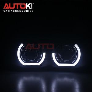 Image 1 - AUTOKI New X5 R 2.0 Sports LED Angel Eyes+ Bi Xenon Lens Projector For Car Retrofit Daytime Running Light 2.5/3.0 H4 H7 9005