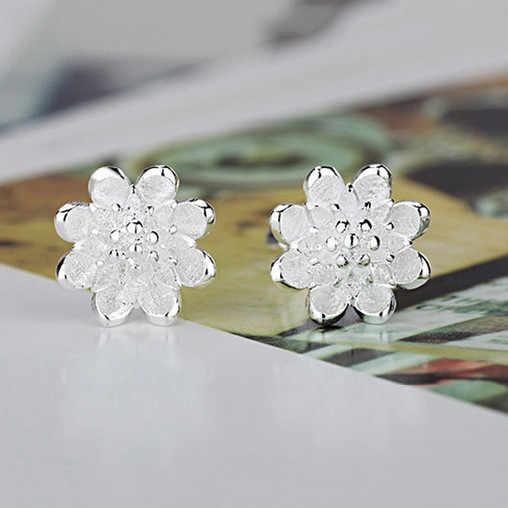 ดอกไม้ที่สวยงามขายต่างหูแฟชั่นอุปกรณ์เสริม 925 เงินสเตอร์ลิงเครื่องประดับของขวัญผู้หญิง