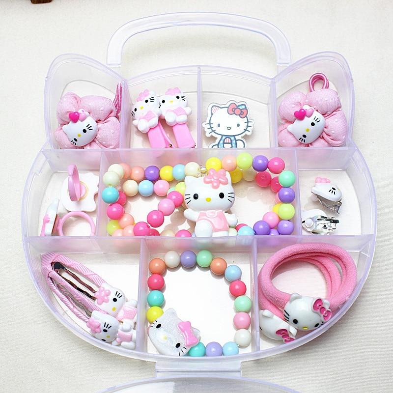 1 Set Gift Box Cute Cartoon Cats Barrettes Baby Girls Children Kids Hair Clips Hairpin Hairgrip Headdress Hair Bands Accessories