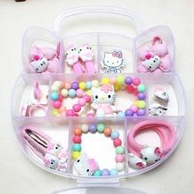 1 Set de caja de regalo bonitos gatos de dibujos animados Barrettes bebé niñas niños pinzas de pelo horquilla tocado accesorios para el cabello