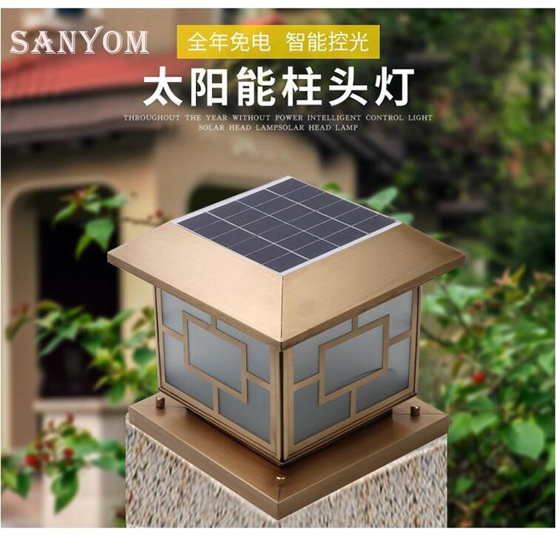 LED Zonne energie Wandlamp Solar Lamp Outdoor Tuin Lamp Voor Thuis Tuin Beveiliging Lamp wandlamp Waterdichte Pure koper