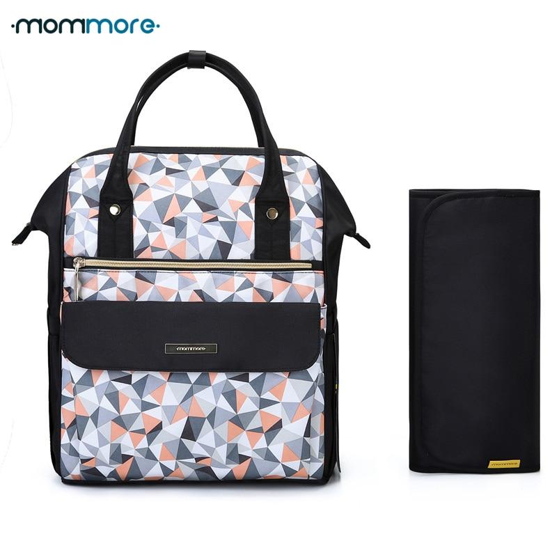 mommore Fashion Mummy Maternity Nappy Backpack Large Capacity Baby Bag for Mom Travel Backpack Nursing Bag