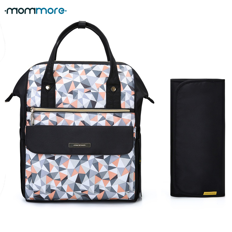 mommore Fashion Mummy Maternity Nappy Backpack Large Capacity Baby Bag for Mom Travel Backpack Nursing Bag for Baby Care
