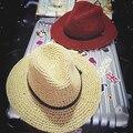 Мягкий ремешок strawhat вс-затенения пляж шляпа мужской складной fedoras вс hat женский большой полями sunbonet бесплатная доставка